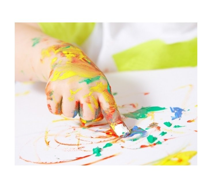Гуашь рисуем пальчиками