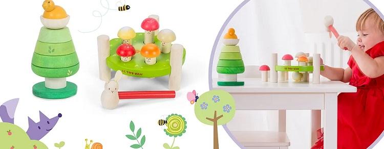 Деревянные игрушки для малышей до 3 лет