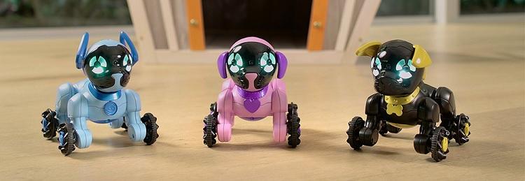 интерактивные роботы щенки Wowwee Chippies