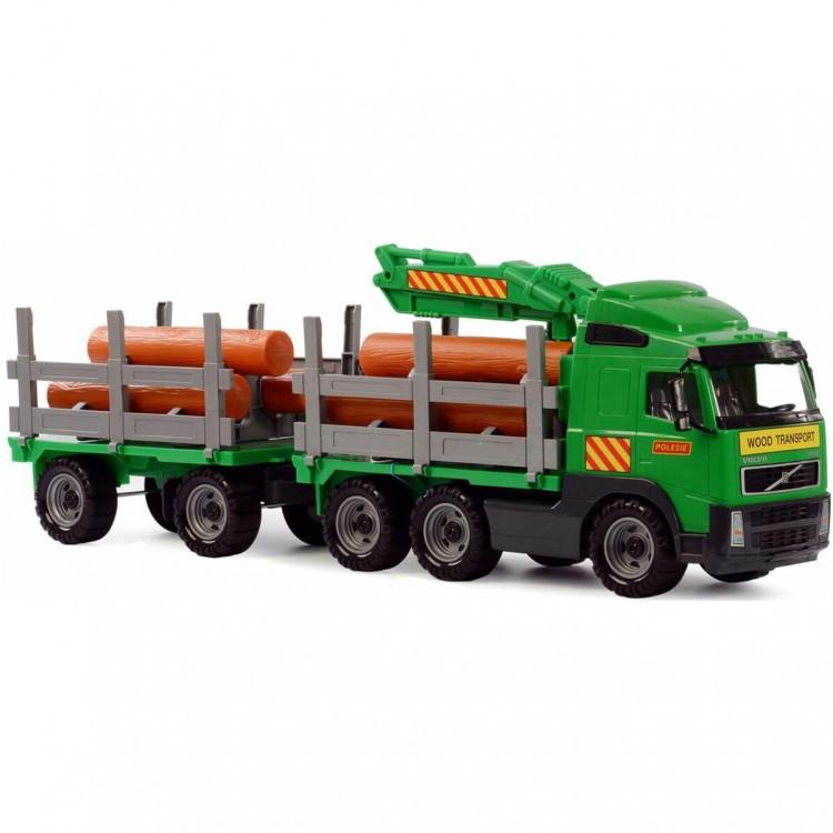 Volvo грузовик-лесовоз с захватом для брёвен и прицепом в ...