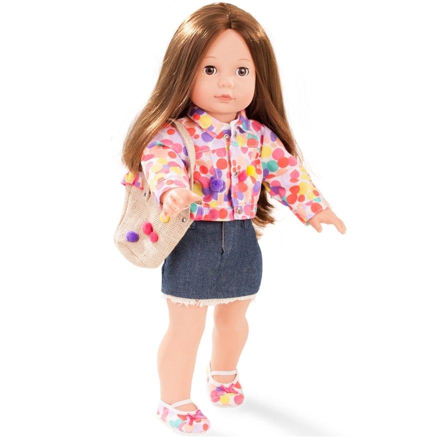 9739cd20d63 Елизавета шатенка в джинсовой юбке мягконабивная кукла 46 см от 3 ...