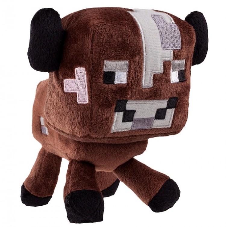 Мягкая игрушка Minecraft Baby cow коричневый 18 см для ...