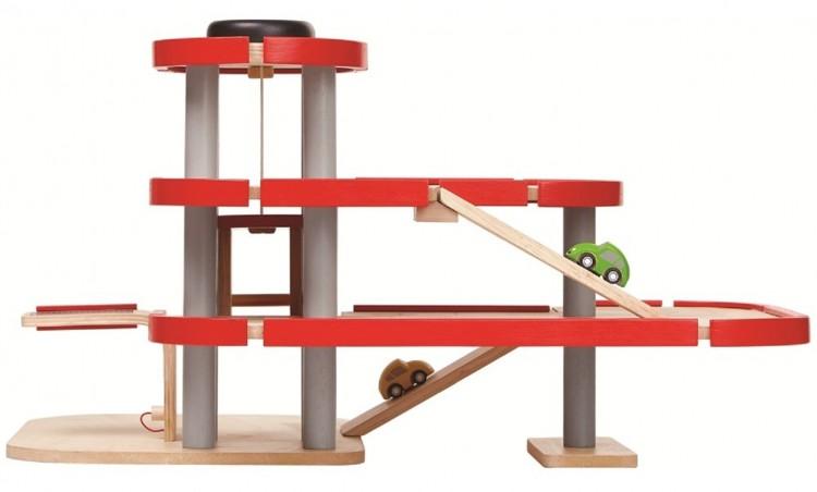Парковка трёхэтажная деревянная, для детей от 3-х лет