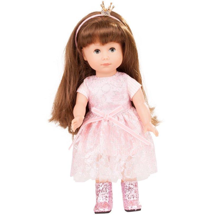 Принцесса Хлоя в розовом платье с короной виниловая кукла ...