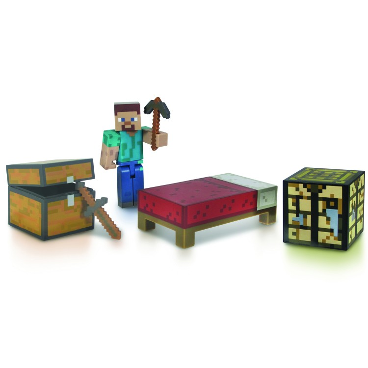 Minecraft Стив и набор для выживания 8 см фигурка из серии ...