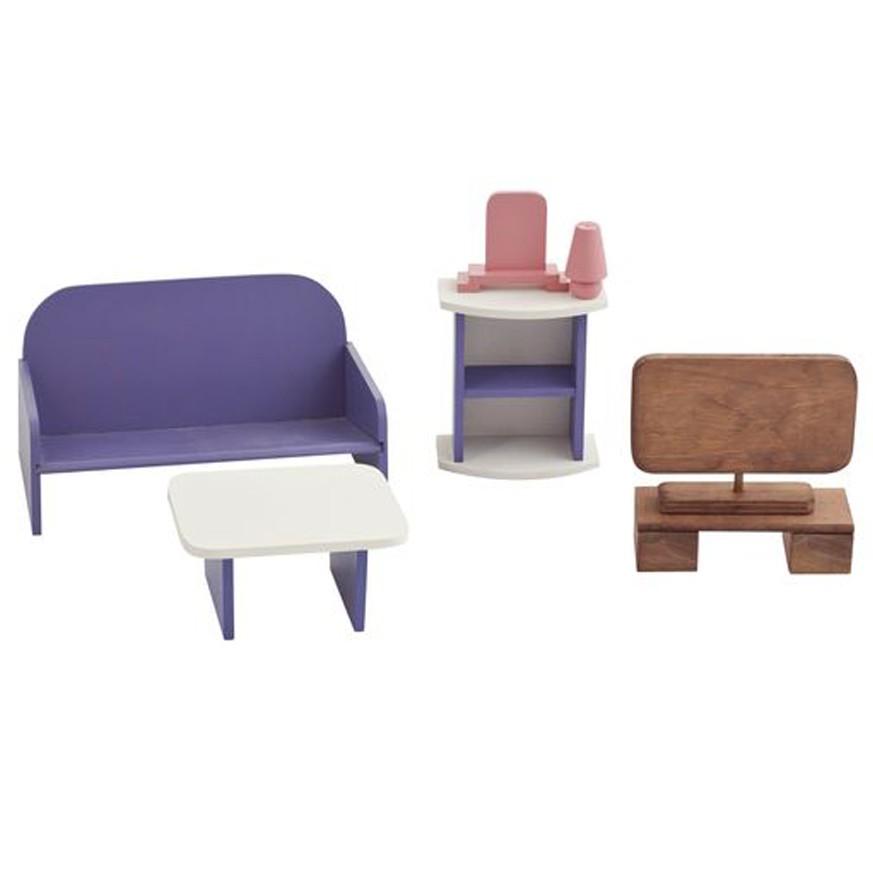 гостиная деревянный игровой набор мебели для кукол 30 см для детей от 3 лет
