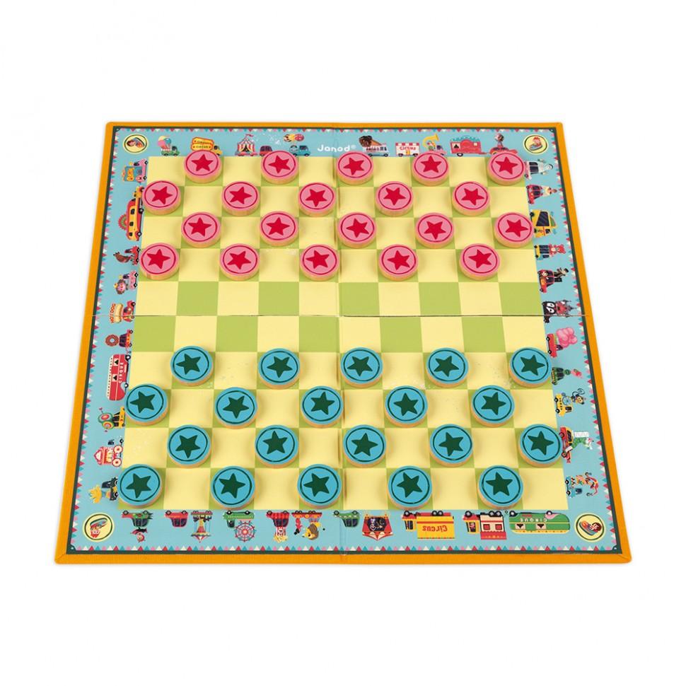 Игра настольная шашки Луна-парк, для 2 игроков, для детей ...