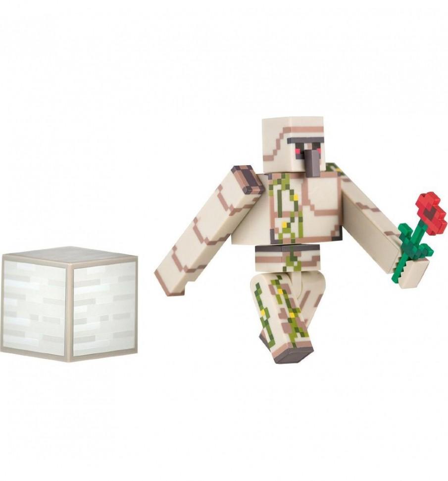 Minecraft Железный голем с аксессуарами пластик 8 см ...